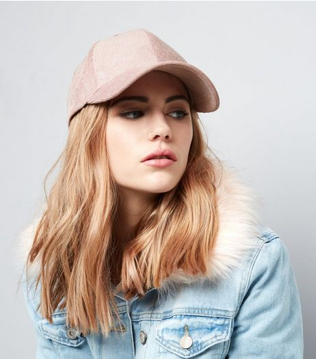 Pink Metallic Cord Cap | New Look