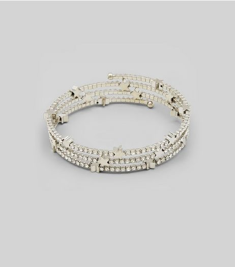 Silver Crystal Star Anklet | New Look