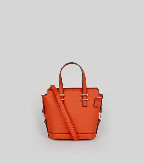 Orange Mini Bucket Bag | New Look