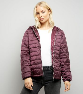 Burgundy Lightweight Puffer Jacket