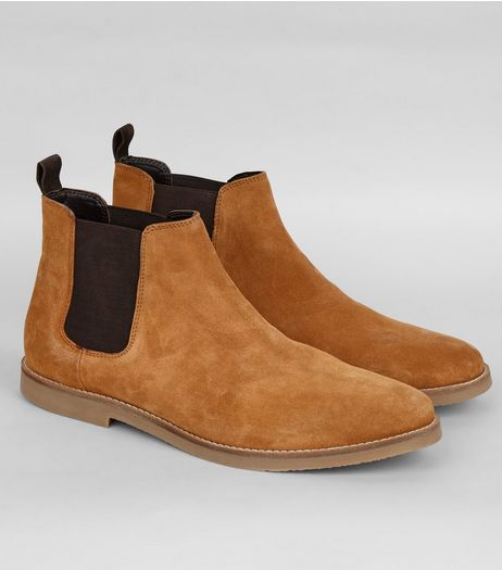 Brown Suede Chelsea Boots | New Look