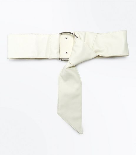 Cream Slouchy Knot Front Waist Belt | New Look