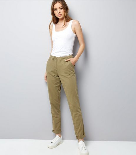 Tall Khaki Roll Up Chinos | New Look