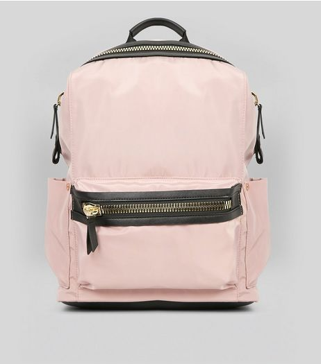 Pink Chunky Zip Backpack | New Look