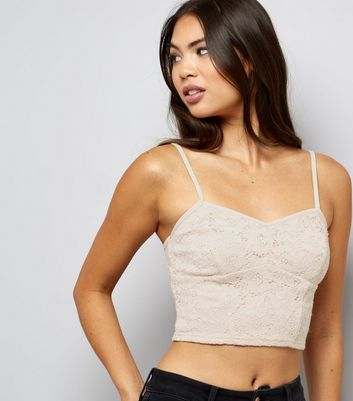 Shell Pink Lace Bralet