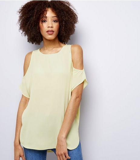 Yellow Cold Shoulder Top | New Look