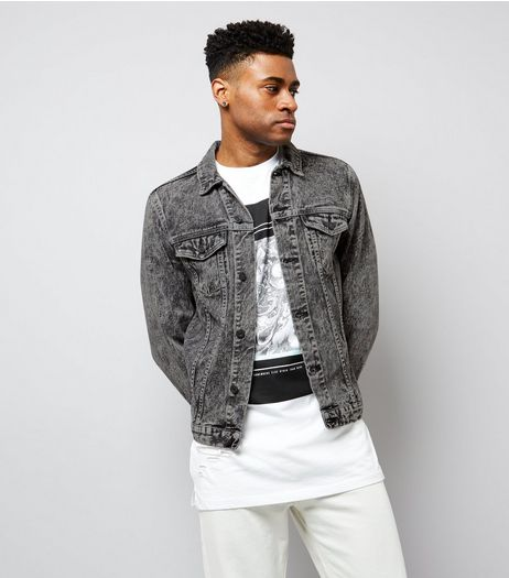 Grey Acid Wash Denim Jacket | New Look