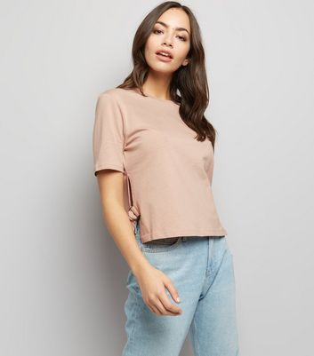 Light Brown D-Ring Tie Side T-Shirt