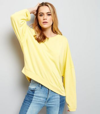 Yellow Batwing Sleeve Sweater