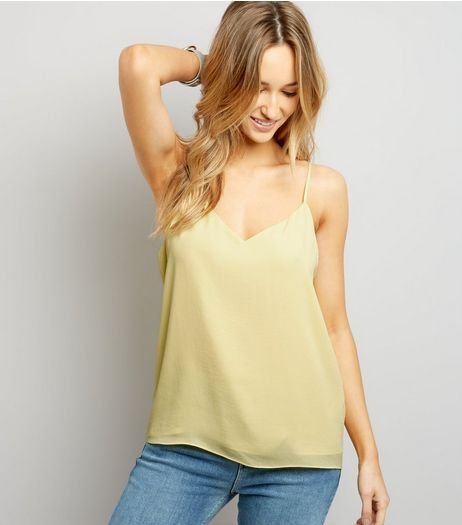 Yellow Strappy Cami Top  | New Look