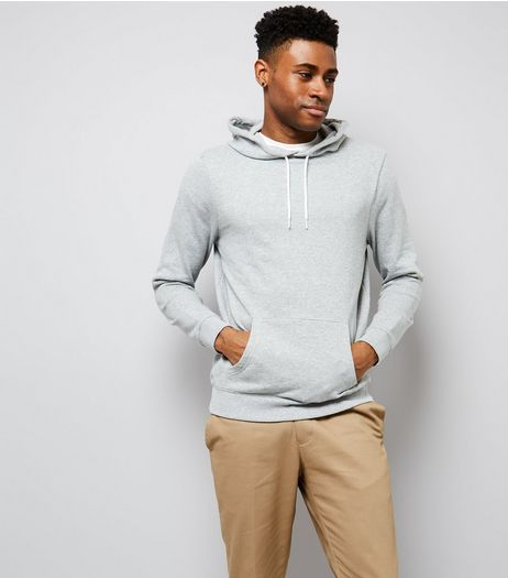 Grey Pocket Front Hoodie | New Look