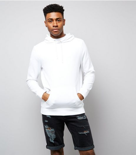 White Pocket Front Hoodie | New Look