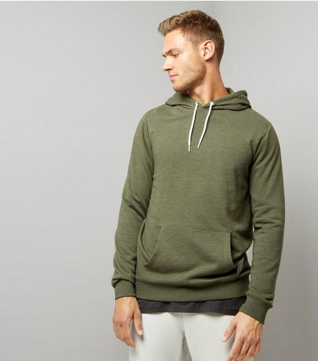 Khaki Pocket Front Hoodie | New Look