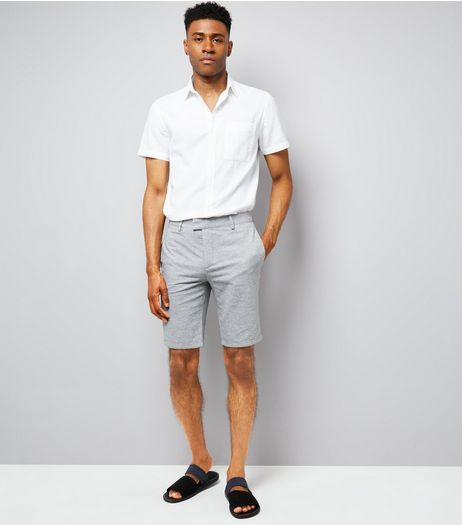 Grey Slim Leg Cotton Tailored Shorts | New Look