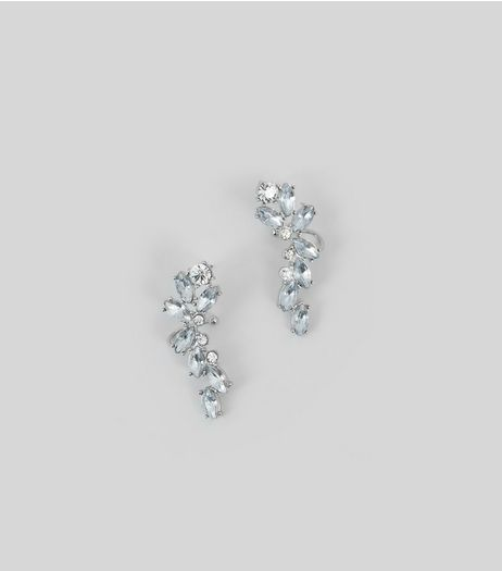 Silver Crystal Earcuffs | New Look