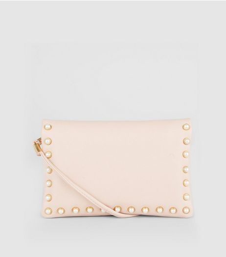 Pink Pearl Stud Cross Body Bag | New Look