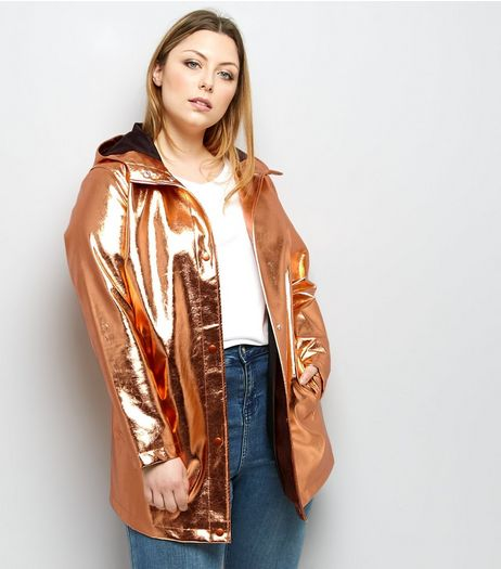 Curves Rose Gold Anorak | New Look