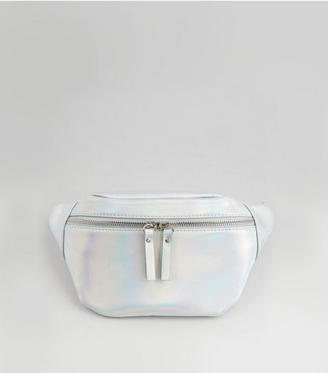 Silver Holographic Bum Bag | New Look
