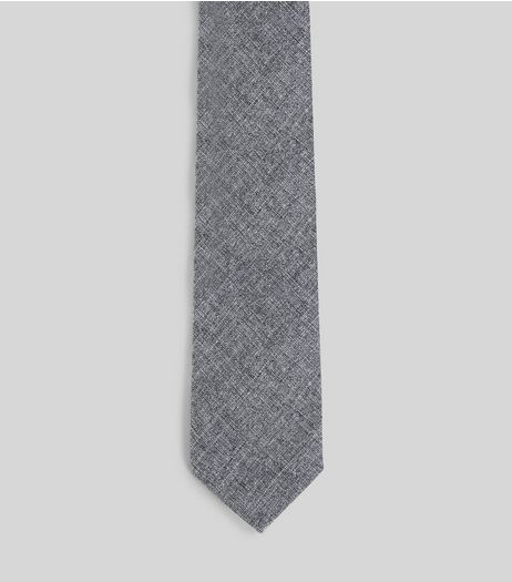 Grey Chambray Tie | New Look