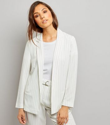 Product photo of White pinstripe jacket