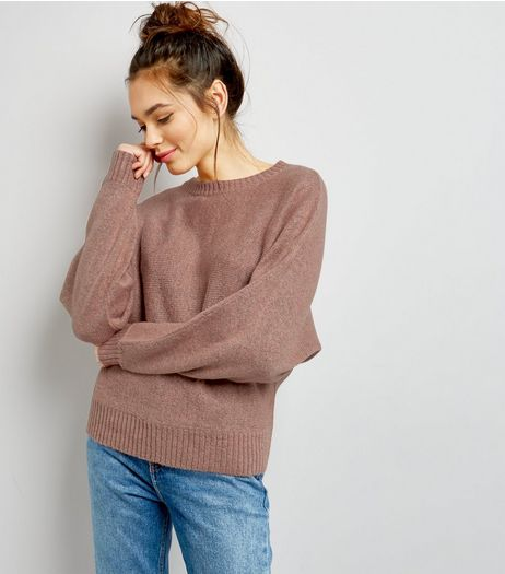 Shell Pink Batwing Sleeve Jumper  | New Look