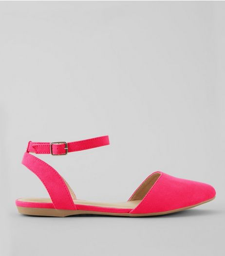 Teens Pink Suedette Pointed Pumps | New Look