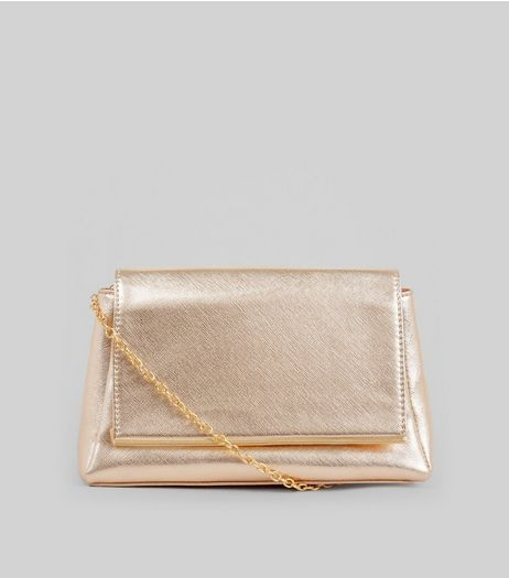 Rose Gold Metal Trim Shoulder Bag | New Look