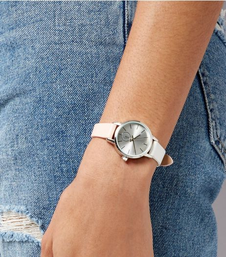 Pink Two Tone Strap Mini Watch | New Look