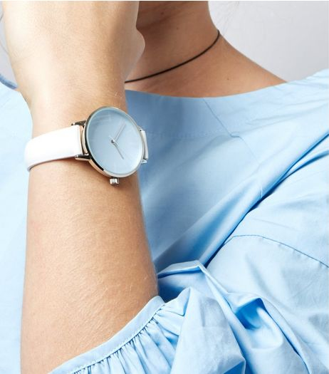 White Colour Pop Dial Watch | New Look