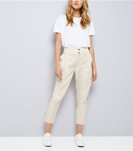 Stone Cropped Trousers  | New Look