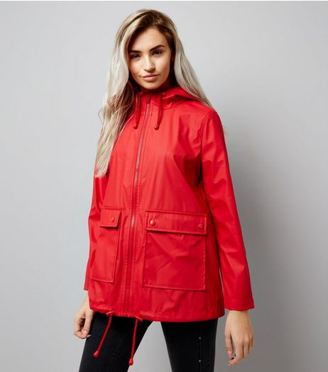 Petite Red Matte Anorak | New Look