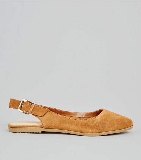 Tan Suede Sling Back Pumps | New Look