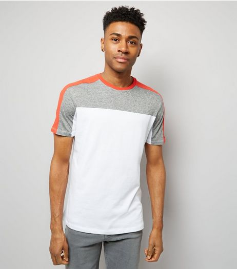 Grey Marl Colour Block T-Shirt | New Look