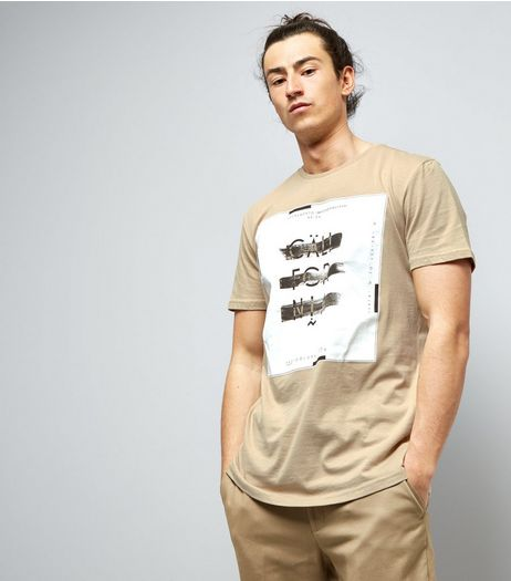Stone California Box Print T-Shirt | New Look