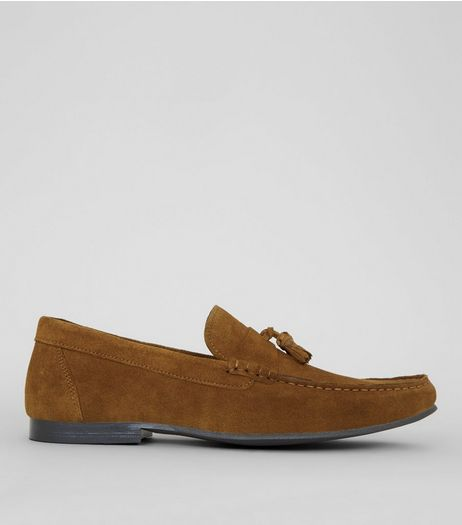 Tan Suede Tassle Loafers | New Look