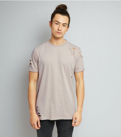 Stone Ripped T-Shirt | New Look
