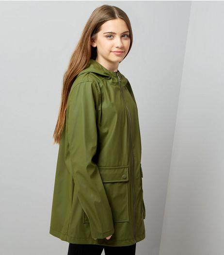 Teens Khaki Matte Anorak | New Look
