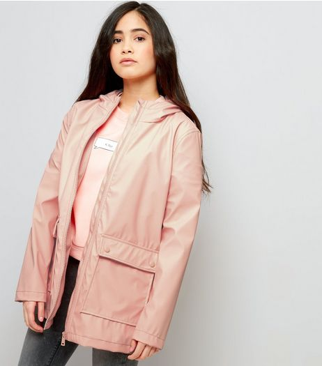 Teens Shell Pink Matte Anorak | New Look