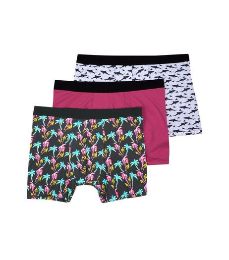 3 Pack Patterned Boxer Briefs | New Look