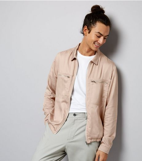 Pink Double Pocket Zip Front Jacket | New Look