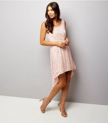 Mela Shell Pink Lace Sleeveless Dress  | New Look