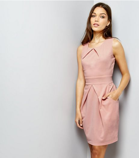 Mela Shell Pink Tulip Dress | New Look