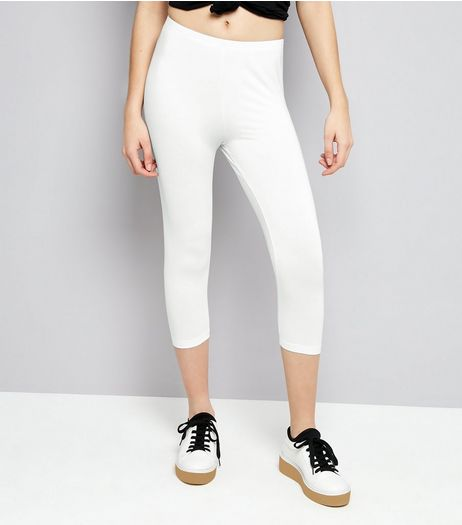 White Cropped Leggings | New Look