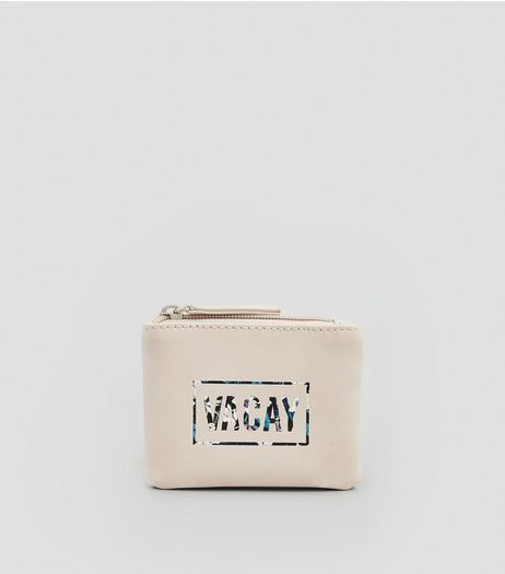 Nude Pink Vacay Zip Top Purse | New Look