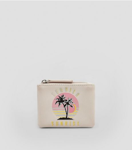 Nude Pink Tequila Sunrise Embroidered Purse | New Look