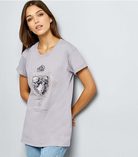 Pale Grey Short Sleeve T-Shirt  | New Look