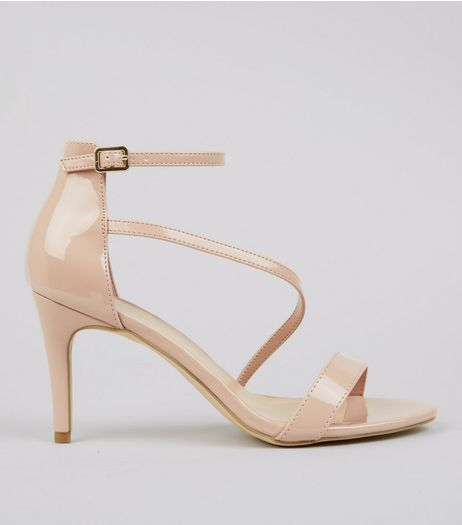 Pink Patent Strappy Heeled Sandals | New Look