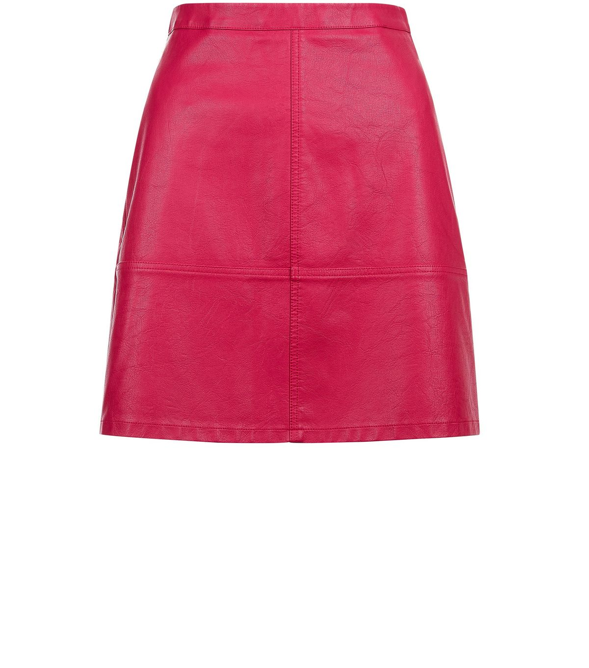 Tall Bright Pink Leather-Look Mini Skirt | New Look