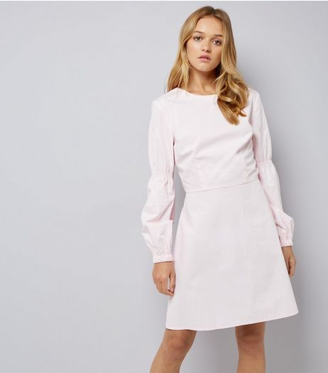 Pink Balloon Sleeve Dress | New Look