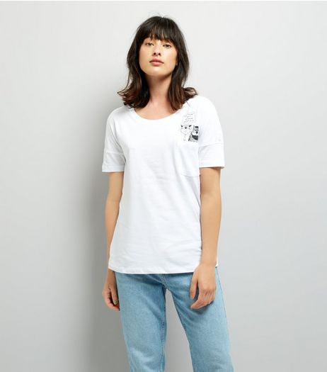 Noisy May White Slogan Print Top  | New Look